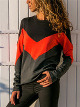 Crew Neck Casual Cotton Solid Sweatshirt