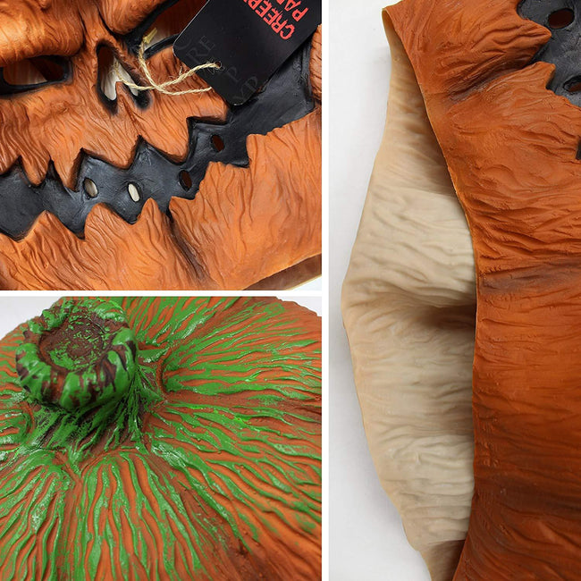 Halloween Costume Party Props Latex Pumpkin Head Mask (Pumpkin) Orange