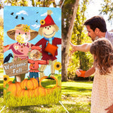 Scarecrow Bean Bag Toss Games with 3 Bean Bags