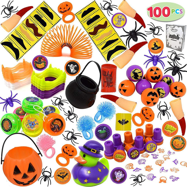 JOYIN Over 100 Pieces Halloween Toys Assortment for Halloween Party