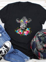 Peace Eyes Cow T-shirt