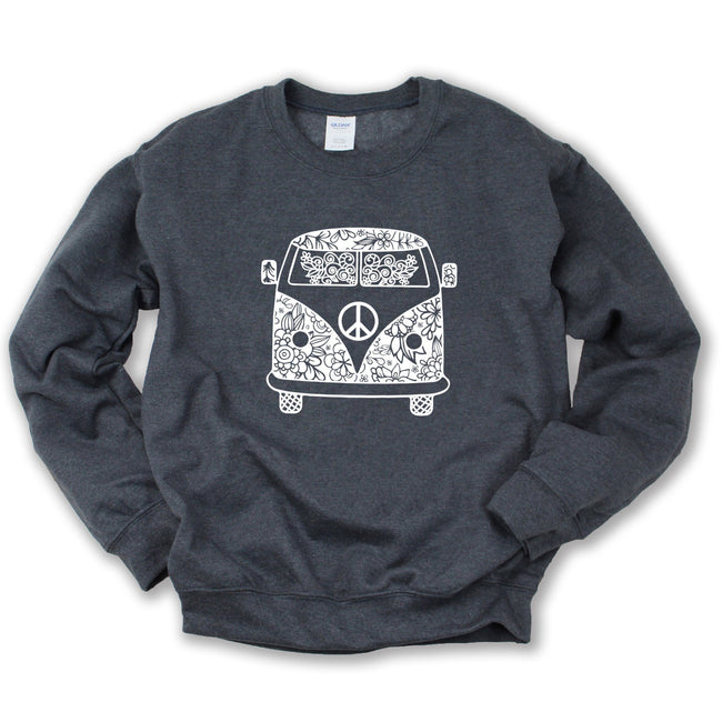 Hippie Peace Bus Sweatshirt