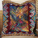 Peacock Couples Blanket Quilt