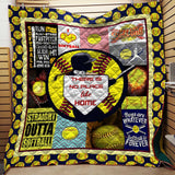 Softball No Place Like Home Blanket Quilt