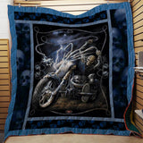 Ghost Rider Lightning Blanket Quilt