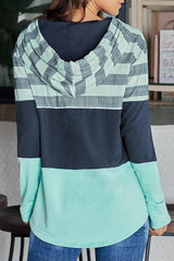Long Sleeve Color Collision Top