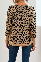 Loose Leopard Knitted Top