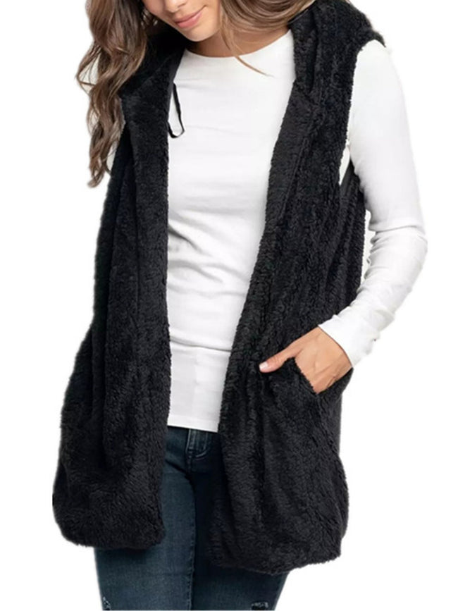 Teddy Furry Pockets Vest Coat