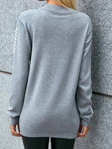 Plus size Cotton Crew Neck Long Sleeve Hoodies