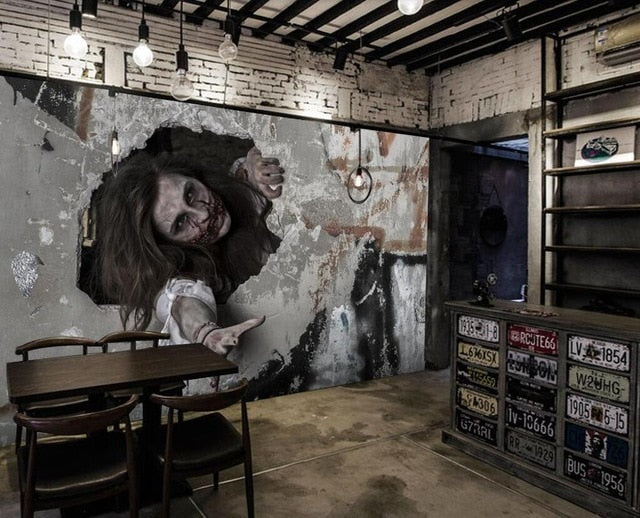 Horror Chalet Custom 3D Photo mural Wall paper Covering Mural room Wallpaper