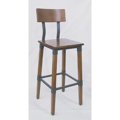 Lyla Bar Stool Vintage Wood & Metal