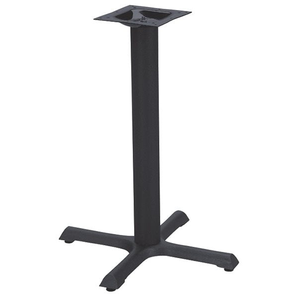 Black Flat Cross Restaurant Table Base