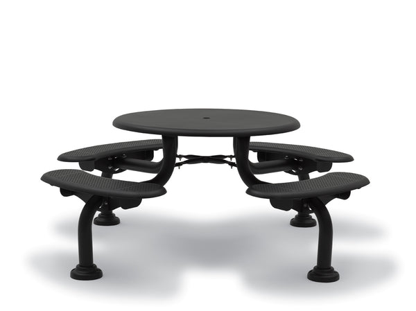 42″ Round Patio Picnic Table – 4 Seats – Camden Collection – Portable/Surface Mount or Inground