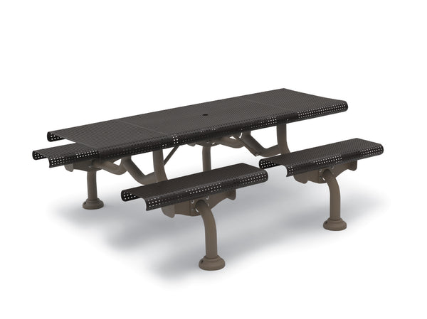 7′ Rectangular Patio Picnic Table – Camden Collection – Portable/Surface Mount or Inground