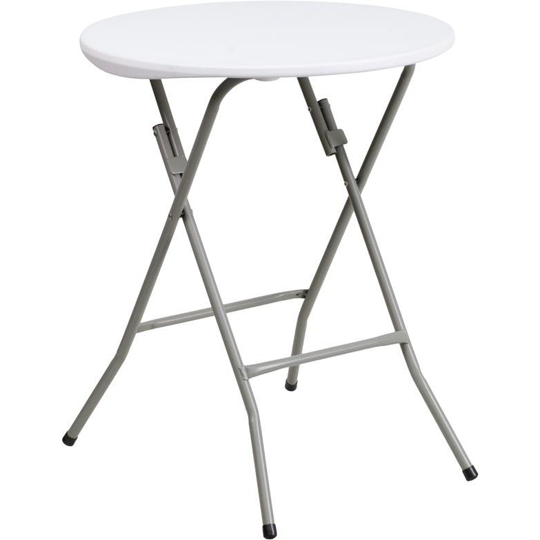 Round Granite White Plastic Folding Table
