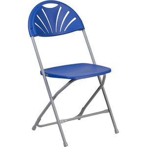 Plastic Fan Back Folding Chair