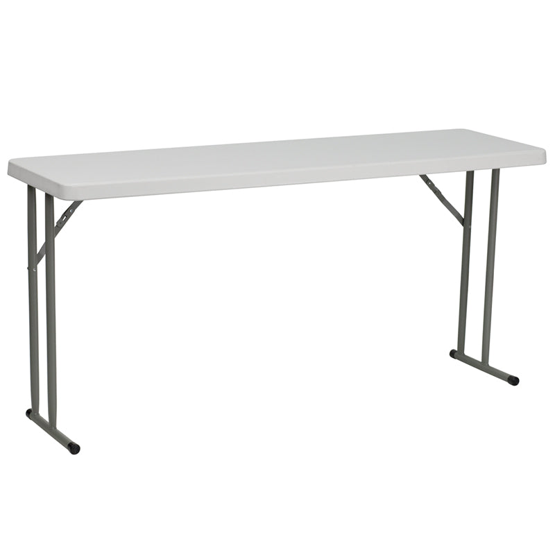 Granite White Plastic Folding Training Table