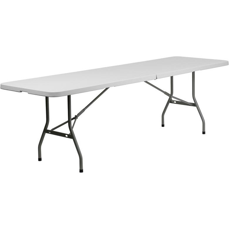 Rectangular Bi-Fold Granite White Plastic Folding Table