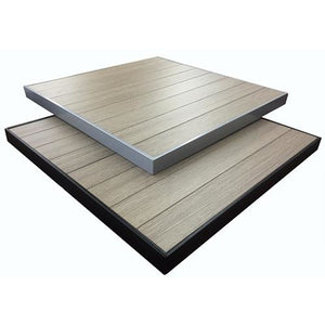 Aluminum Gray Brown Table Top