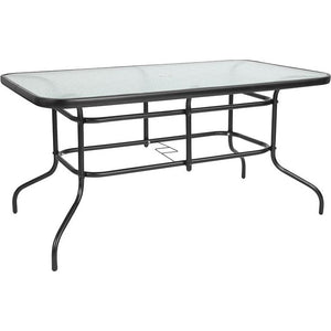 Tempered Glass Metal Table