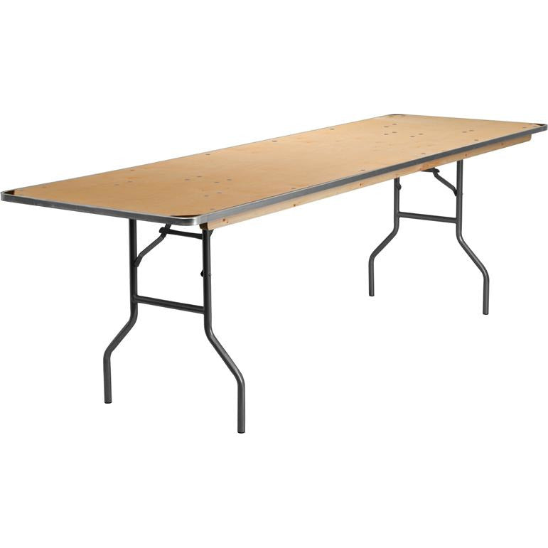 HEAVY DUTY Birchwood Folding Banquet Table with METAL Edges