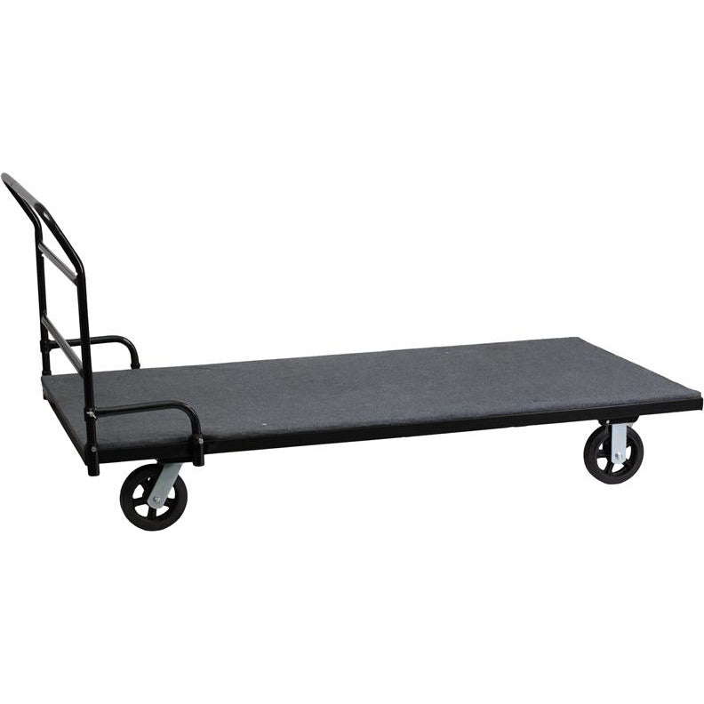 Folding Table Dolly with Carpeted Platform for Rectangular Tables