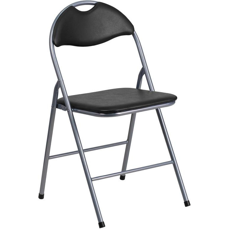 Vinyl Metal Folding Chair with Carrying Handle