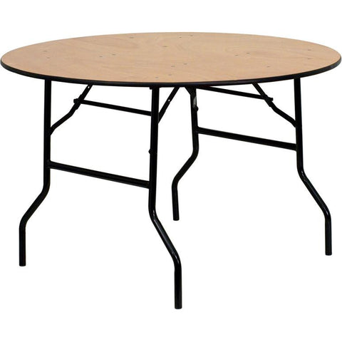 Wood Folding Banquet Table with Clear Coated Finished Top
