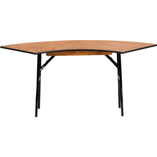 Serpentine Wood Folding Banquet Table