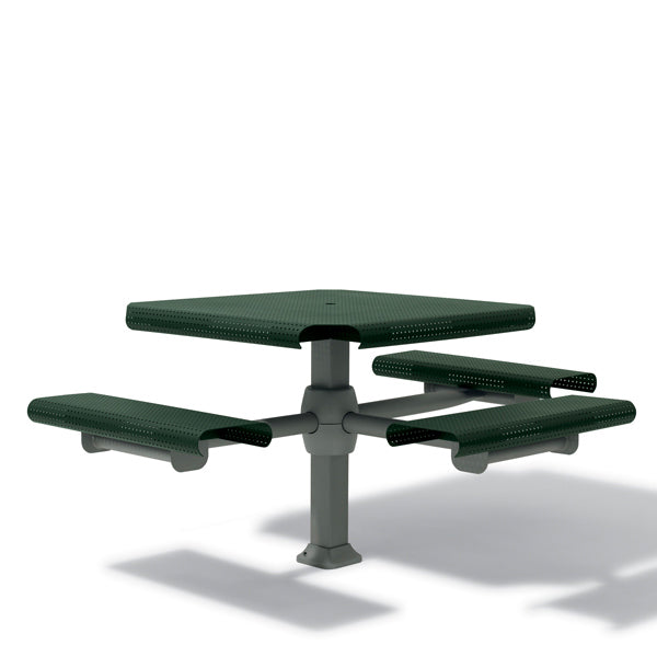 46 inch Accessible (ADA) Square Picnic Table – with 3 Seats – Inground
