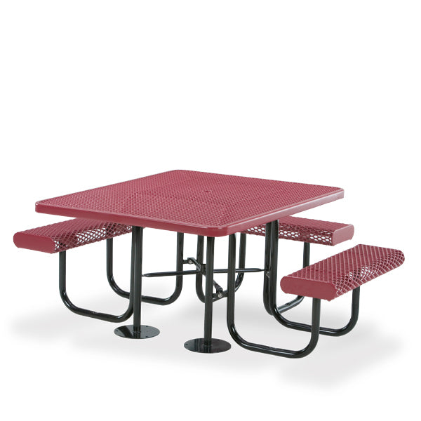 ADA Accessible Portable Square Picnic Table – 3 Seats – Prestige Series