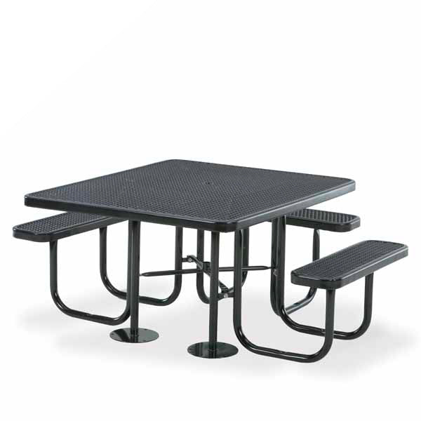 46 inch x 55 inch Square – ADA Accessible 3- Seat Picnic Table – Signature Series – Portable