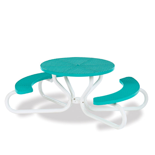 42 inch Round Picnic Table with Concave Seating – 4 Legs – Signature Series – Portable