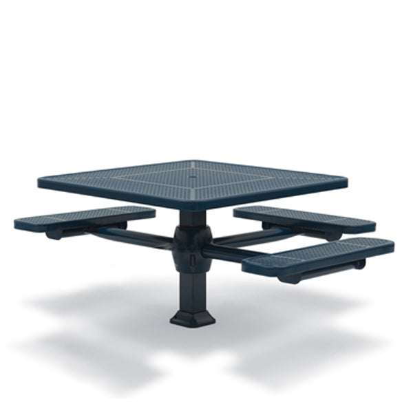 46 inch Square Pedestal ADA Accessible Picnic Table with – 3 Seats – Superior Frame – Signature Series – Inground