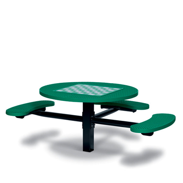 Game Tables – 46 inch Round Signature Style (ADA Accessible) – 3 Seats – Basic Frame – Specialty Series – Inground