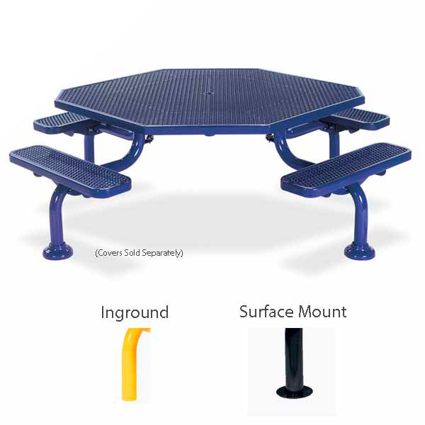 ADA Accessible Octagon Picnic Table with 4 seats – Spyder Series – Portable/Surface Mount or Inground