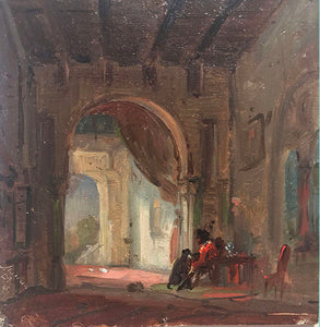 """Interior of a Palace"" by Ludwig Mecklenburg"