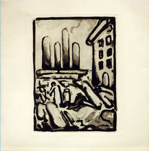 "Load image into Gallery viewer, ""People in Town"" by Georges Rouault"