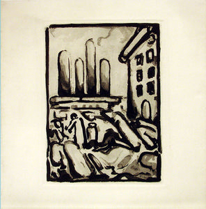 """People in Town"" by Georges Rouault"