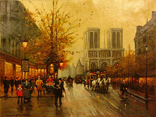 "Load image into Gallery viewer, ""Street Scene"" by Antoine Blanchard"