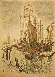 """Ships"" by Emile A. Gruppe"
