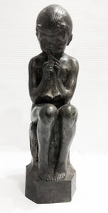 Seated Demon Boy Bronze Sculpture