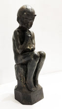 Load image into Gallery viewer, Seated Demon Boy Bronze Sculpture