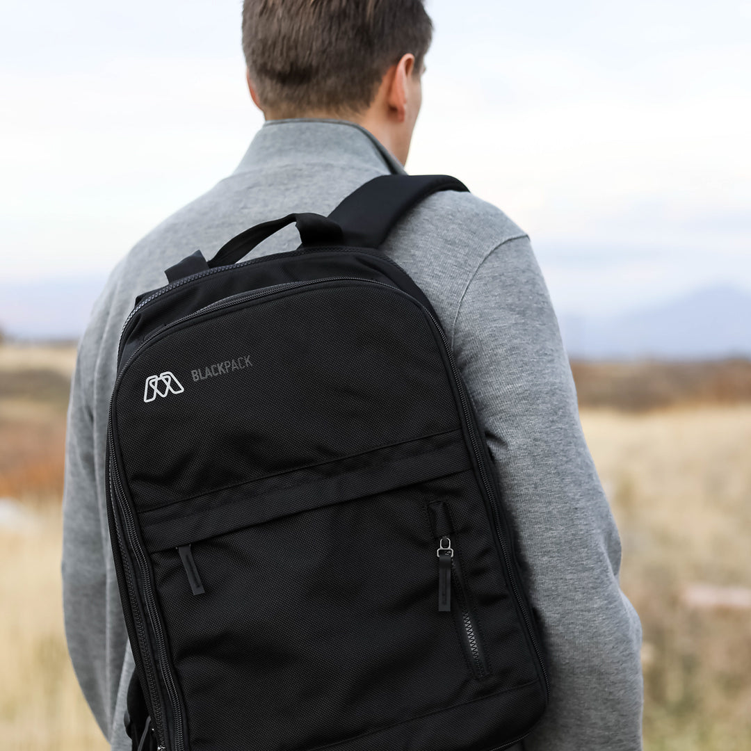 MOS Blackpack™ - our best travel backpack for carrying electronics.