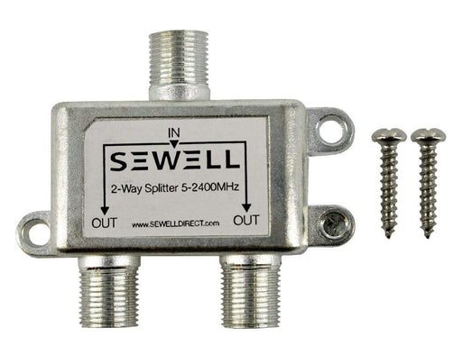 2-Way Indoor/Outdoor Coax Splitter Sewell