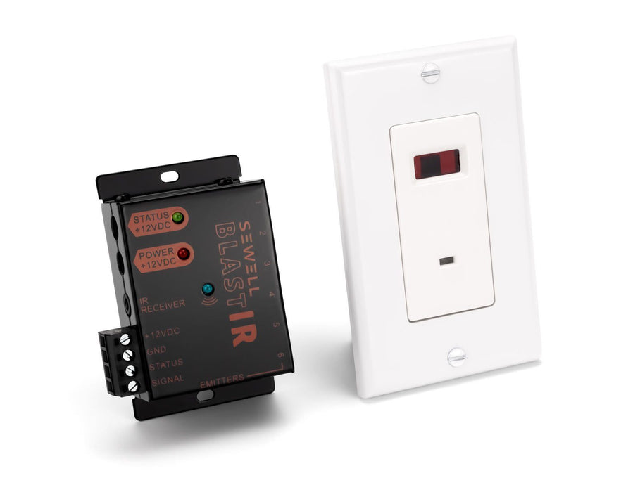 BlastIR In-Wall Emitter and Receiver Wall Plate Kit IR Sewell