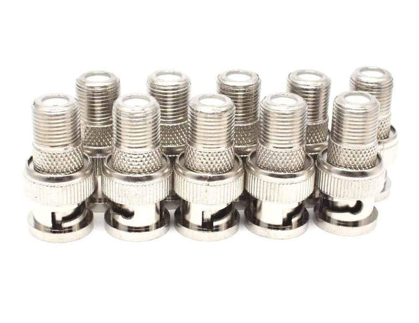 BNC Male to Female F-type Connector Adaptor, Sewell 10-pack SW-30040-10