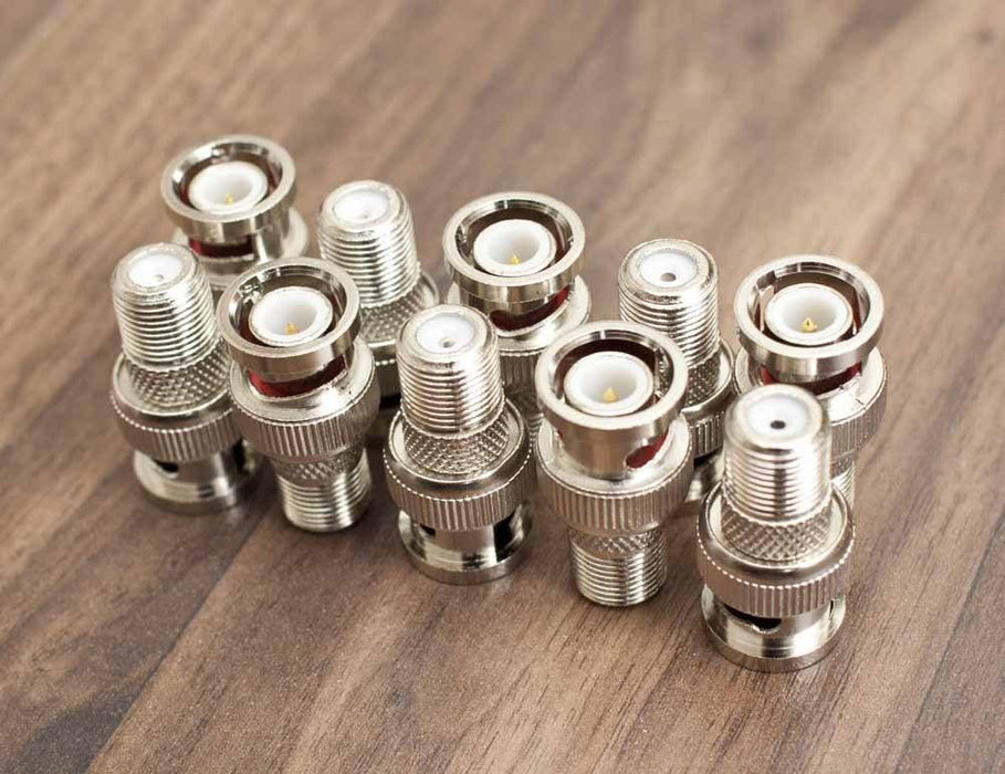 BNC Male to Female F-type Connector Adaptor, Sewell