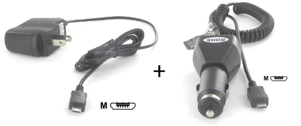 Micro USB Wall and Car Charger Kit Sewell