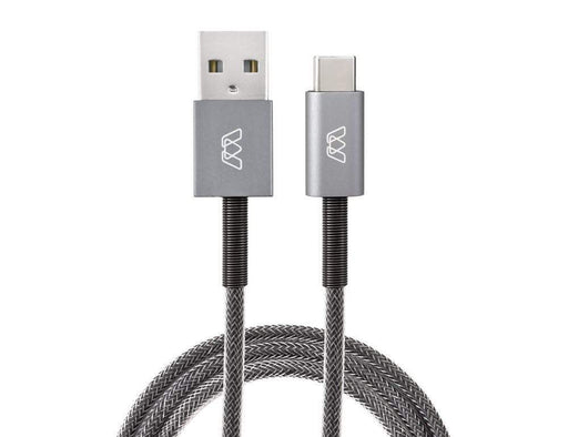 MOS Spring, USB-C to USB-A Cable MOS Grey 1 ft. SW-32991-1